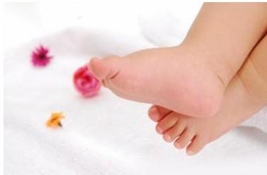 可爱小婴儿的脚
