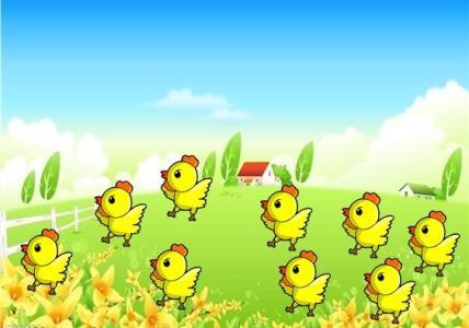 由于鸡是吃五谷杂粮的鸟类动物,每天都在找吃的粮食,只要一见到图片