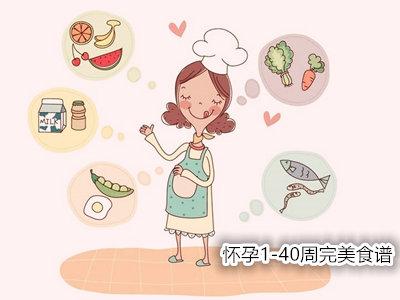 各个孕周营养和饮食重点:怀孕1-40周完美食谱