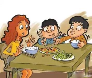 孩子在饭桌上吃饭时有哪些不合适的小毛病